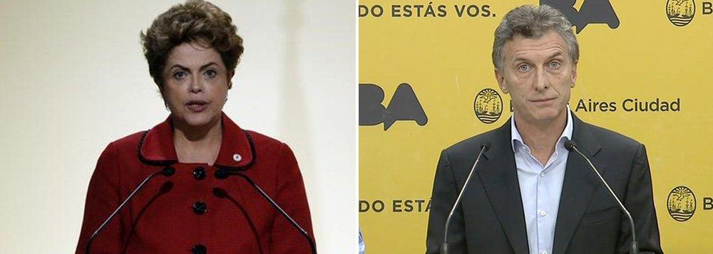 """""""A cláusula democrática é integrante do Mercosul, mas para usá-la não pode ser com hipóteses. Tem de qualificar o fato. Sempre o Mercosul contou com ela. Foi ela que permitiu que o Mercosul não concordasse com a saída do presidente [Fernando] Lugo, do Paraguai. Precisa de fato determinado. Não é genérica"""", disse a presidente Dilma Rousseff, em Paris, sobre a açãodefendida pelo presidente eleito da Argentina, Maurício Macri, contra a Venezuela, de Nicolas Maduro"""