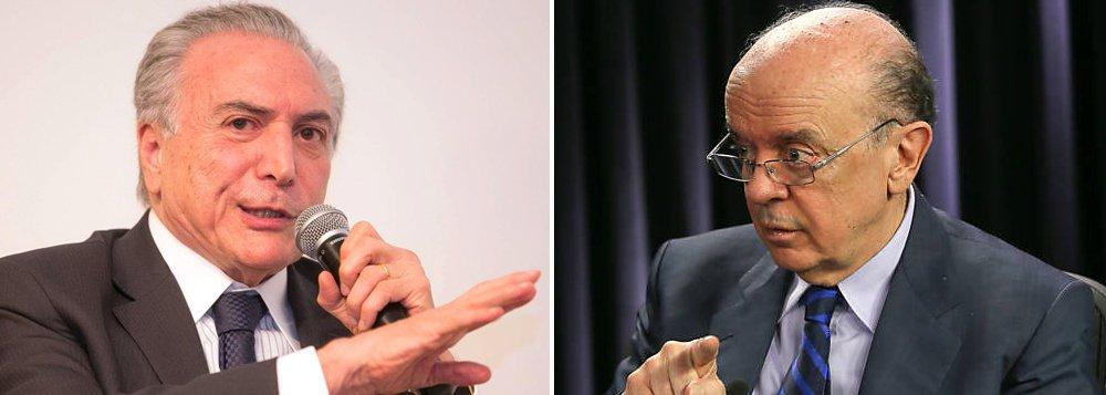 """Vice-presidente Michel Temer deve anunciar, no encontro com o ex-presidente Lula, que o PMDB desembarcará de vez do governo da presidente Dilma Rousseff; a saída deve ser oficializada na convenção do partido marcada para dia 29; a colunista ressalta ainda que """"governo Temer"""", que só existirá em caso de impeachment de Dilma, já passa por sua primeira """"crise"""", com declarações do senador José Serra (PSDB-SP)"""