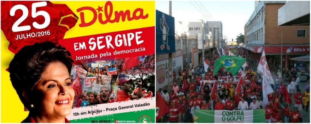 A presidente eleita Dilma Rousseff estará em Aracaju no próximo dia 25 para participar da Jornada pela Democracia no Estado; o ato ocorrerá na Praça General Valadão, a partir das 15h; o evento é uma iniciativa da Frente Brasil Popular, do Mulheres pela Legalidade e da Frente Brasil Juristas pela Democracia