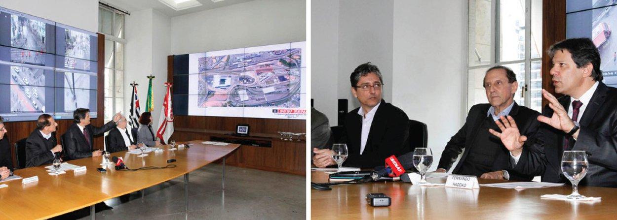 """O prefeito de São Paulo assinou contrato de concessão de uso de um terreno de 21,1 mil metros quadrados para empreendimento educacional na zona leste;""""Estamos mapeando as oportunidades para transformar esse espaço em um centro vivo da zona leste"""", declarou Fernando Haddad (PT)"""