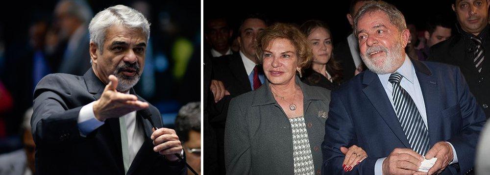 """Líder do PT no Senado, Humberto Costa (PE), disse que a morte da ex primeira-dama Marisa Letícia ocorreu em decorrência da """"perseguição midiática"""" a que ela e o ex-presidente Luiz Incio Lula da Silva foram submetidos; """"Houve uma perseguição midiática sem precedentes, que lhe provocou uma profunda tristeza e precipitou problemas de saúde em decorrência de um estado emocional extremamente abalado por esse cerco que se impôs à sua vida, à vida do ex-presidente e à de todos os seus familiares"""", disse o parlamentar em nota; osenador e ex-ministro Armando Monteiro Neto (PTB) também lamentou a morte da ex-primeira dama;governador Paulo Câmara (PSB) decretou luto oficial de três dias pela morte da ex-primeira-dama"""