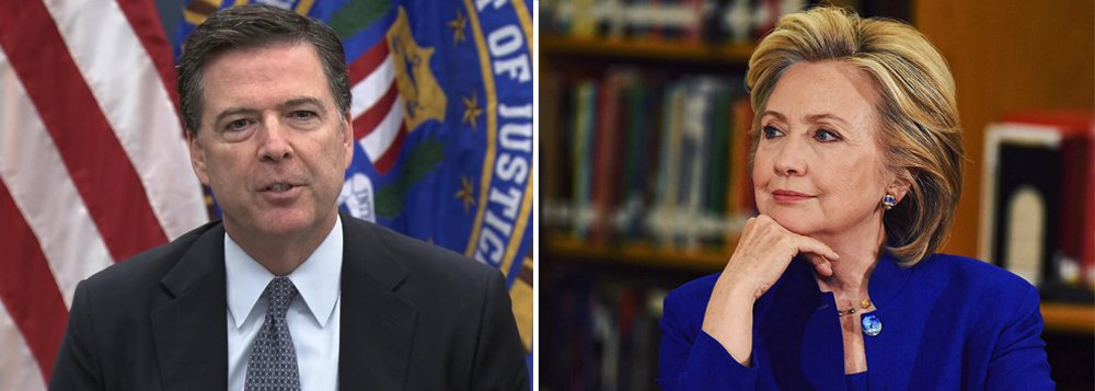 """O diretor do FBI, James Comey, disse neste domingo ao Congresso dos EUA que a recente revisão de e-mails descobertos não mudou a conclusão de que não há acusações que justifiquem um processo contra a candidata democrata à presidência, Hillary Clinton, relativo ao uso de um servidor privado de e-mail enquanto era secretária de Estado; em carta ao Congresso, Comey disse que a agência concluiu a revisão dos novos e-mails e que """"não mudamos as conclusões que informamos em julho com respeito à secretária Clinton""""; o anúncio pode dar impulso à campanha de Hillary a 48 horas das eleições"""