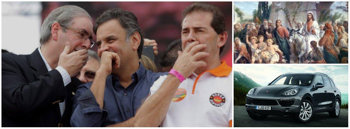 Enlameado, nu, pego com a boca na botija, Eduardo Cunha caminha solitário para o patíbulo. Não, Jesus não vai perdoá-lo como o fez com Dimas