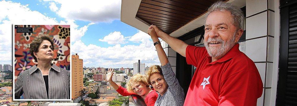 """Pela primeira vez, a presidente eleita Dilma Rousseff revela, em uma entrevista exclusiva à revista francesa L´Express, que o ex-presidente Lula não terá outra opção senão a de se candidatar à presidência da República; """"Esta é, certamente, a razão principal deste golpe de Estado: impedir Lula de disputar a eleição presidencial. Hoje, nas pesquisas – e apesar de todas as tentativas de destruir a sua imagem – Lula continua a ser a pessoa mais querida. Eu posso dizer a você que ele vai disputar a próxima eleição"""", afirmou"""