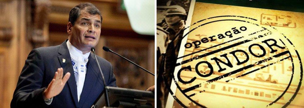 """""""Este é o novo Plano Condor. Já não são necessárias ditaduras militares, são necessários juízes submissos e uma imprensa corrupta"""", disse Rafael Correa, presidente do Equador, fazendo referência às ditaduras recentes da América Latina; Correa disse que Lula """"vencerá"""" e que os povos latino-americanos não permitirão retrocessos"""
