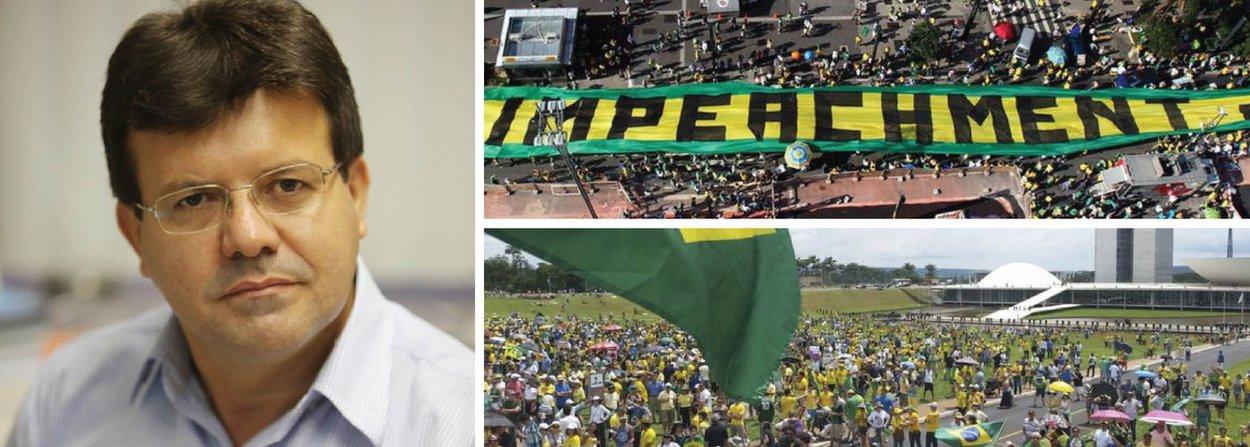 """O jornalista Marcos Cardoso afirma que o pedido de impeachment da presidente Dilma Rousseff sem """"elementos técnicos, jurídicos e até políticos"""" representa um golpe contra a democracia; ele pontua que o impedimento é rechaçado por entidades como a CNBB, a CUT, o MST, partidos políticos, artistas e intelectuais; o jornalista diz ainda que """"Aécio e sua turma insistem em lembrar que o impeachment não é golpe porque é uma regra prevista na Constituição"""", mas ressalta que """"a forma como querem a qualquer custo imputar ao atual mandato presidencial o tal crime constitucionalmente previsto é que se trata de um golpe""""; """"Essa articulação movida pela insatisfação e pelo chororô de quem perdeu a eleição é uma tentativa de golpe"""", disse"""