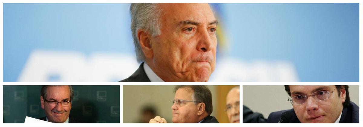 Michel Temer, Eduardo Cunha, Geddel Vieira Lima e lucio Funaro .2
