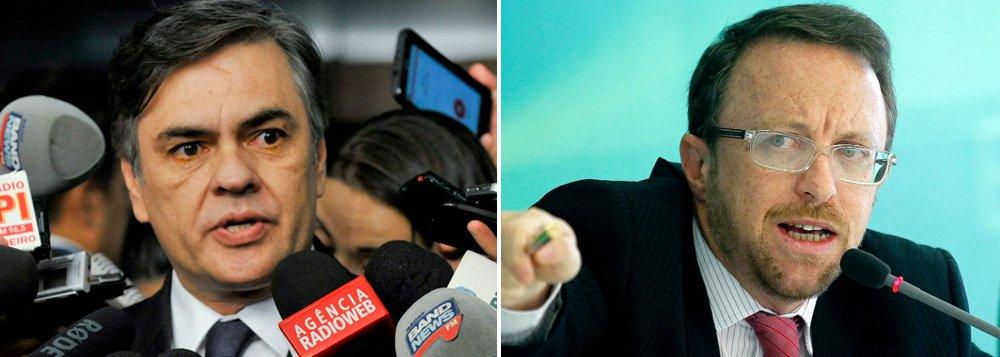 """Líder do PSDB no Senado, Cássio Cunha Lima, diz que o """"governo Temer"""" tá começando muito mal: """"ele tem como colaborador o Thomas Traumann, que fez o serviço sujo contra nós na internet na campanha presidencial de 2014""""; ex-ministro de Comunicação Social de Dilma Rousseff rebate: há """"falha factual"""" nas afirmações de Cunha Lima, já que ele era ministro e """"não cuidava da campanha de Dilma na internet"""""""