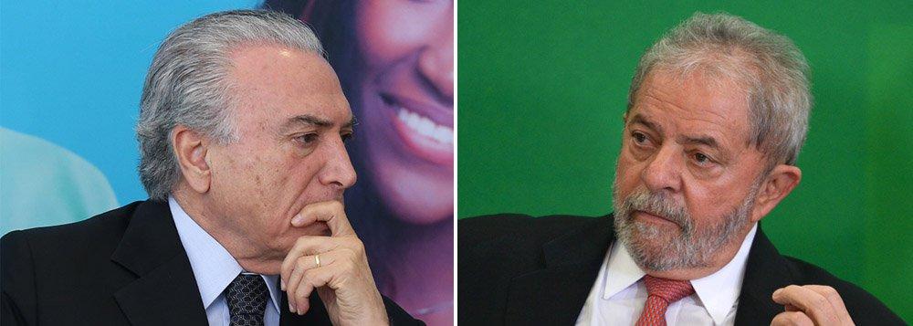 """Caso o golpe em curso seja aprovado na Câmara neste domingo, 16, e posteriormente passe também no Senado, o PT pode lançar uma campanha pedindo """"diretas já""""; segundo a colunista Mônica Bergamo, a ideia é sustentar que o mandato de Michel Temer, que assumirá interinamente até Dilma ser julgada, é ilegítimo e que """"eleições já"""" seriam a melhor solução para a crise política; ideia agrada ao partido, porque o ex-presidente Luiz Inácio Lula da Silva, mesmo sob ataque da mídia, do Judiciário e da oposição, está em primeiro na preferência do eleitorado"""