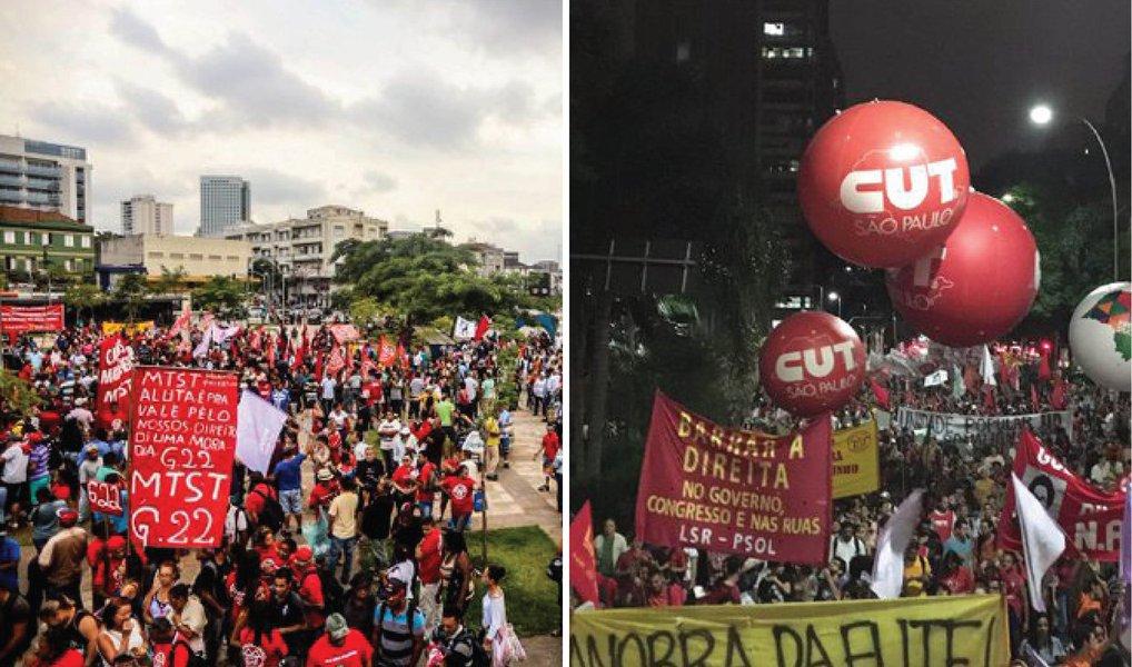 Sempre que necessário, estaremos nas ruas de todo o Brasil para defender a democracia e denunciar o golpe. Atos de resistência são fundamentais na luta contra os conservadores e a retirada de direitos