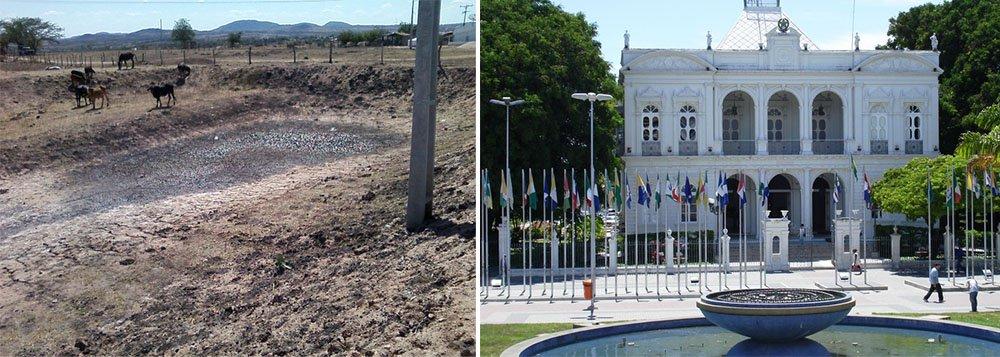 Por conta da seca, o Governo de Alagoas decretou situação de emergência em 38 municípios após constatação técnica feita pela Coordenadoria Estadual de Defesa Civil (Cedec); a falta de chuvas tem causado perdas na agricultura e pecuária, comprometimento dos reservatórios hídricos, entre outros graves problemas