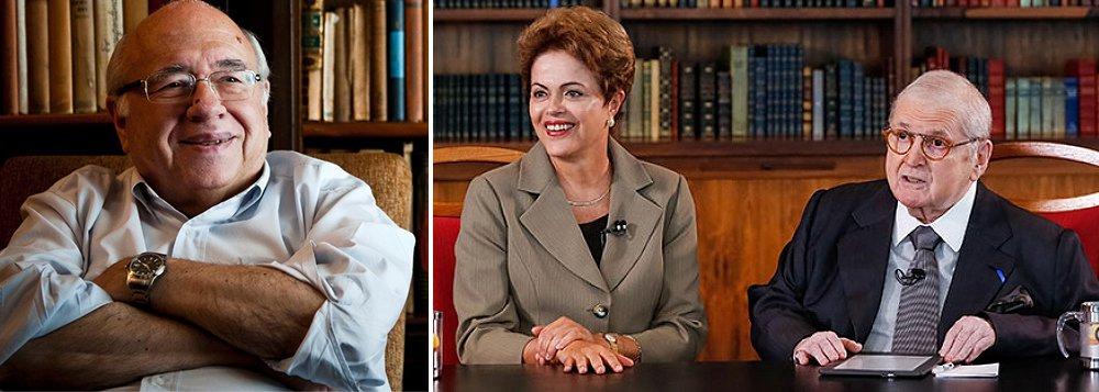 """Escritor Fernando Veríssimo cita a reação contra a entrevista do Jô Soares com a presidente Dilma Rousseff: """"O antipetismo começou com o PT, o ódio ao PT nasceu antes do PT. Está no DNA da classe dominante brasileira, que historicamente derruba, pelas armas se for preciso, toda ameaça ao seu domínio, seja qual for sua sigla""""; 'são justamente as conquistas que revoltam o conservadorismo raivoso, para o qual """"justiça social"""" virou uma senha do inimigo', acrescenta"""