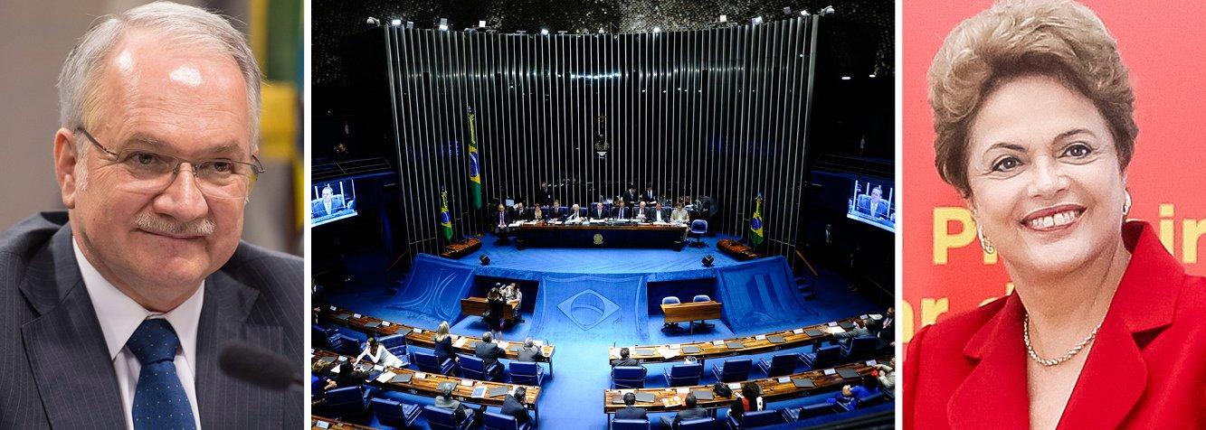 A presidente Dilma Rousseff teve hoje uma grande vitória no Senado: a aprovação, pelos senadores, da indicação do jurista Luiz Edson Fachin para ocupar a 11ª vaga no Supremo Tribunal Federal (STF); para que o nome fosse aprovado, eram necessários, no mínimo, 41 votos por Fachin, mas o resultado teve mais folga, com 52 posicionamentos favoráveis, contra 27 que votaram contra o advogado gaúcho; a votação é secreta; o nome levantou críticas da oposição, mas recebeu apoio geral e irrestrito no meio jurídico