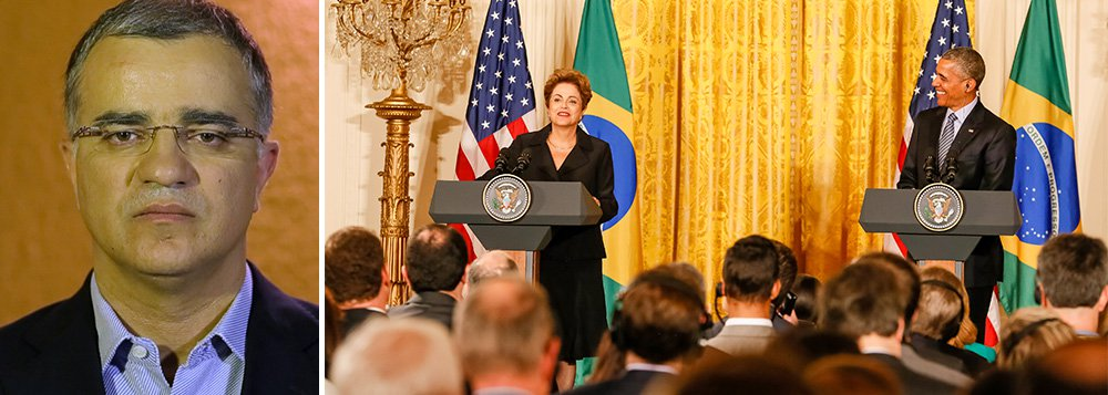 Segundo o colunista Kennedy Alencar, para quem sofre com crises domésticas na política e na economia, a presidente Dilma Rousseff teve um dia de alívio em Washington; Barack Obama disse que vê o Brasil como uma potência mundial e não regional; também é do interesse dos Estados Unidos se reaproximar do Brasil; ou seja, a visita de Dilma à Casa Branca foi uma via de mão dupla econômica e política