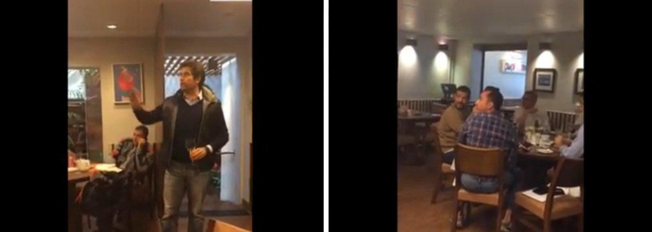 """Secretário de Relações Governamentais do prefeito Fernando Haddad (PT) e ex-ministro da Saúde, o petista Alexandre Padilha foi hostilizado em um restaurante de luxo da capital paulista, nesta sexta (15); Padilha almoçava com outros cinco homens quando um dos clientes do restaurante se levantou e bateu com o talher em uma taça e criticou o programa Mais Médicos; o ex-ministro reagiu dizendo que """"63 milhões de pessoas são atendidas"""" pelo programa; o homem, irônico, então pediu uma salva de palmas para Padilha"""