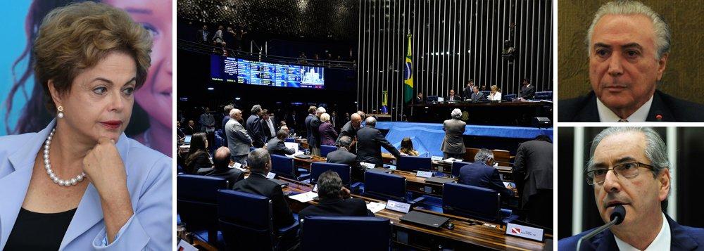 """""""Os ecos de domingo ainda estão no ar, o PSDB sobe o tom, mas o governo se concentra é na consolidação da melhora do ambiente político conseguida na semana passada. Para isso, terá que vencer, no jogo com o Congresso que recomeça hoje, dois obstáculos que estão em pauta: aprovar no Senado o último projeto do ajuste fiscal, o da reoneração das empresas, e evitar que a Câmara aprove, tal como está proposto, o projeto que aumenta a correção dos recursos do FGTS"""", escreve Tereza Cruvinel, colunista do 247; sobre a primeira proposta, 44 empresários estiveram hoje com Michel Temer para tentar impedir que o Senado aprove o projeto da forma como está; sobre a segunda, que traz um enorme custo fiscal, o presidente da Câmara, Eduardo Cunha, já avisou que será votada """"por bem ou por mal"""""""