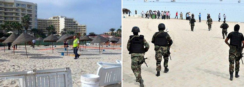 Um homem armado disfarçado de turista abriu fogo em um hotel da Tunísia nesta sexta-feira com uma arma escondida em um guarda-chuva, e matou 37 pessoas, entre elas turistas britânicos, alemães e belgas que aproveitavam a piscina e a praia na cidade litorânea
