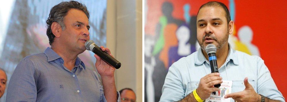 """Em Alagoas para o lançamento de campanha de filiação do PSDB, que acontece em cinco estados nesta sexta-feira, senador criticou as declarações de Vagner Freitas feitas ontem durante encontro entre a presidente Dilma e movimentos sociais, de """"ir para as ruas entrincheirados de armas na mão"""";para Aécio, """"o País acompanhou, com perplexidade"""", as declarações; e rebateu: """"Vamos de cabeça erguida, nós vamos para rua e levando uma única arma, que é a constituição do Brasil""""; o presidente do PSDB defendeu ainda """"que o governo perverso do PT seja substituído por um novo e virtuoso ciclo"""""""
