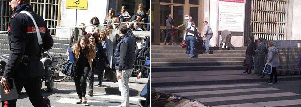 """Identificado pela imprensa italiana como Claudio Giardiello, acusado em um processo por falência fraudulenta, o homem abriu hoje fogo em uma sala do terceiro andar do Palácio de Justiça matando duas pessoas, uma delas um juiz, e ferindo várias pessoas;""""O suposto assassino de Milão foi detido em Vimerceto [cerca de 30 quilômetros a nordeste da cidade]. Está neste momento na delegacia"""", escreveu o ministrodo Interior italiano, Angelino Alfano, no Twitter"""