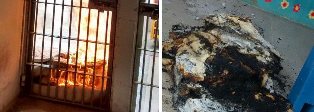As detentas do presídio feminino Santa Luzia, em Maceió, queimaram colchões em protesto contra a suspensão das visitas causada pela greve dos agentes penitenciários; não há registros de feridos nem tentativa de fuga; ação teria durado poucos minutos