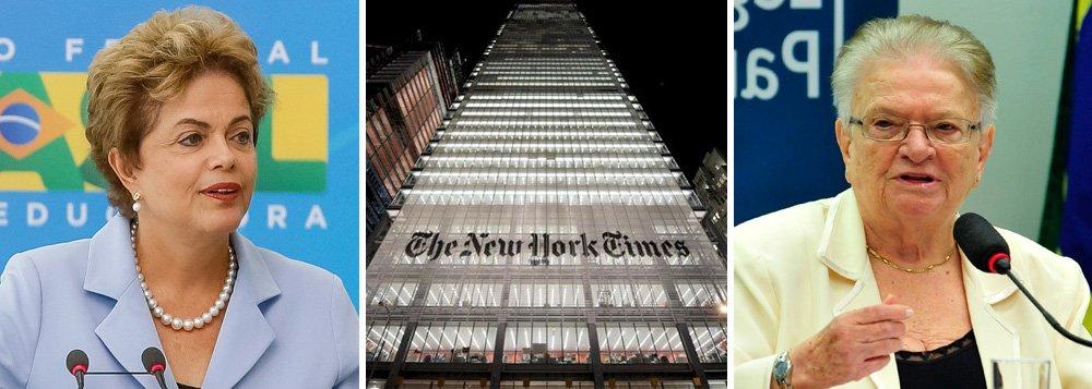 """Em novo artigo, Paulo Moreira Leite admira que o editorial do New York Times que aponta não haver razões para impeachment no Brasil e ainda dá uma cotovelada nas oposições tenha tido uma repercussão tão pequena num país onde a visão externa costuma ser referência para tantas pessoas; """"Seria muita ingenuidade acreditar, porém, que a democracia brasileira será garantida por um editorial do New York Times. Nem pelo apoio declarado por grandes empresários brasileiros"""", alerta PML, destacando um conselho dado recentemente pela ex-prefeita de São Paulo Luiz Erundina; """"a força que pode sustentar Dilma e defender a democracia não se encontra na justiça nem no Congresso, mas no povo""""; para o jornalista, """"é um conselho mais do que oportuno – essencial"""""""