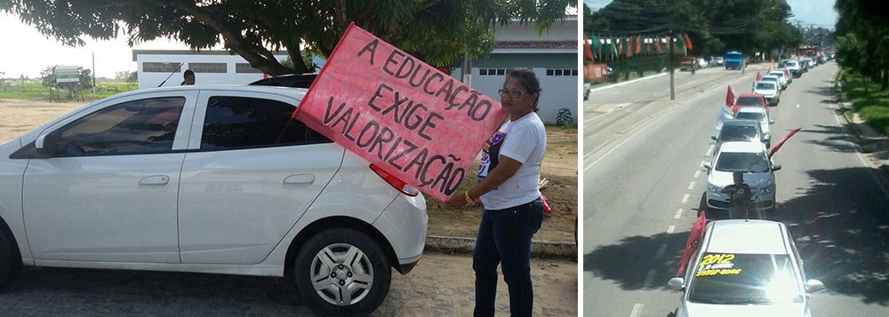 Em greve que já dura quase três meses, servidores, professores e técnicos da Universidade Federal de Alagoas (Ufal) realizam ações desde o início da manhã com panfletagem, carreata e apitaço pelas ruas de Maceió; eles cobram melhores salários e condições de trabalho; movimento grevista acontece em 23 universidades