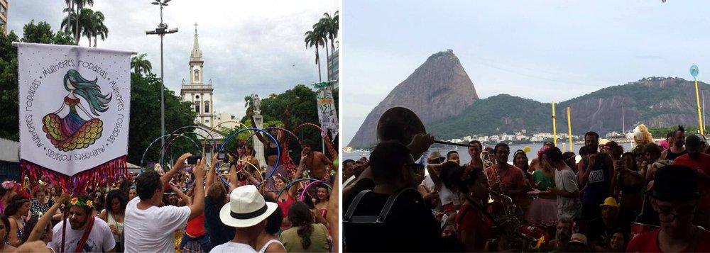 O bloco das Mulheres Rodadas, que fez sua estreia no carnaval deste ano, na Quarta-feira de Cinzas, com um chamado contra o machismo, aproveitou o Dia Internacional da Mulher, comemorado hoje, para reforçar o posicionamento contra o assédio masculino e a favor da liberdade de vestir, durante manifestação no Posto 4, em Copacabana, zona sul do Rio de Janeiro