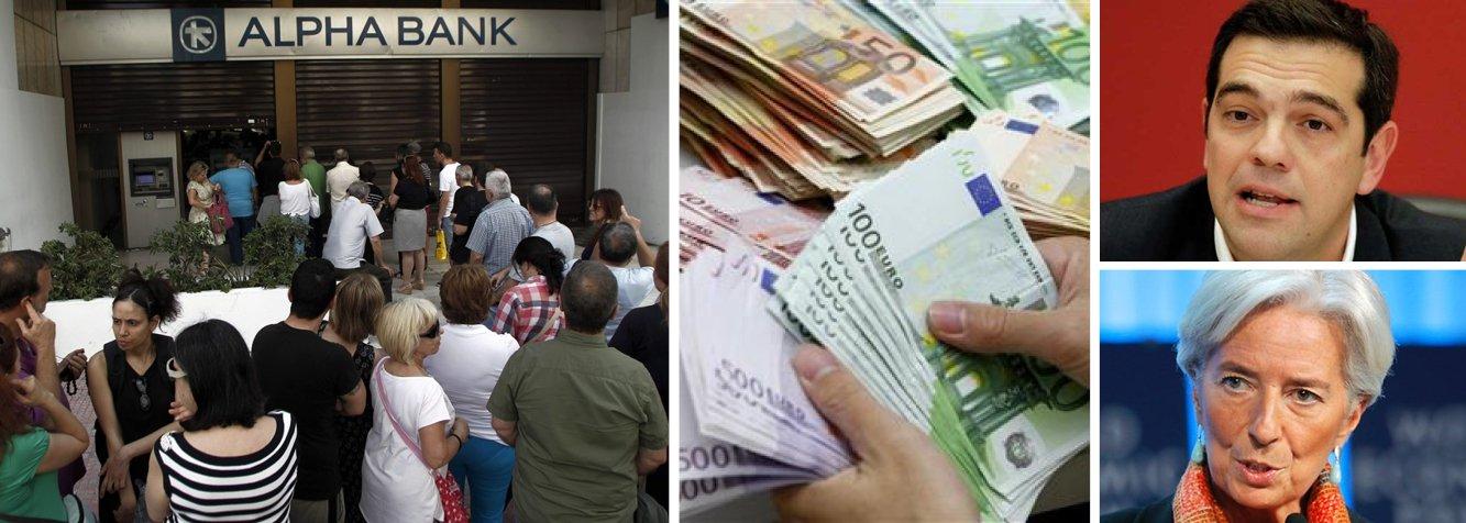 O governo grego, comandado por Alexis Tsipras, anunciou no início da noite deste domingo que os bancos ficarão fechados nesta segunda-feira; além disso, haverá controles de capitais, ou seja, as transferências de recursos para o exterior estão proibidas; com isso, é praticamente certo o calote da dívida grega, o que lança dúvidas sobre o futuro do euro; como a Grécia deve abandonar o projeto da moeda comum, a questão é: outros países seguirão o exemplo?