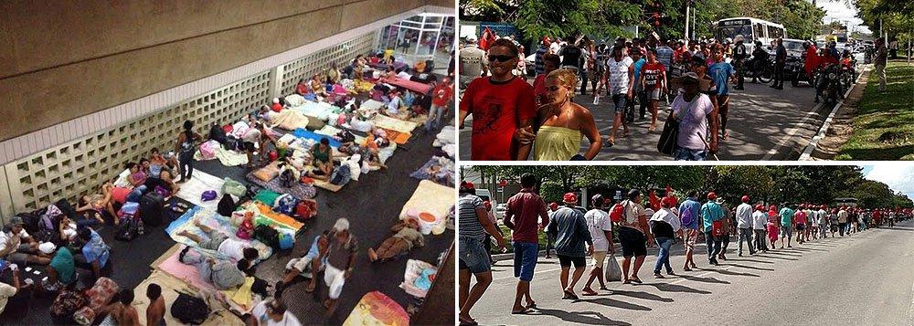 Membros de movimentos sociais vinculados a questão da reforma agrária, ocupam, desde a noite de terça-feira (10), a sede da Eletrobras em Alagoas; eles reivindicam o fornecimento de eletricidade para os acampamentos e assentamentos