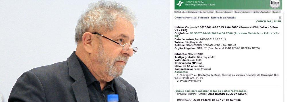 """Um habeas corpus preventivo impetrado na Justiça Federal no fim da tarde desta quarta-feira 24 pede que o ex-presidente Lula não seja preso na Operação Lava Jato; o Instituto Lula nega que o petista tenha entrado com tal pedido e acrescenta que o documento poderia ter sido de iniciativa de qualquer cidadão; a entidade vê a ação como de """"alguém preocupado com o ex-presidente"""" ou """"como uma provocação""""; a divulgação do documento nas redes sociais foi feita pelo senador Ronaldo Caiado (DEM-GO); """"O Instituto Lula estranha que sua divulgação parta do senador Ronaldo Caiado"""", disse, em nota, o instituto; autor do pedido é Maurício Ramos Thomaz, que se apresenta como consultor"""