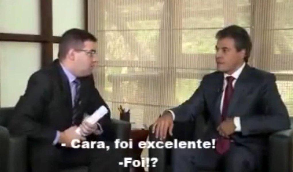 """Governador conversou na terça-feira 28 com o jornalista Denian Couto, da TV e-Paraná, sobre a greve dos professores e servidores públicos no estado; no final da entrevista, sem saber que a conversa ainda estava sendo gravada, o repórter comentou:""""Cara, foi excelente!""""; Richa rebateu, satisfeito: """"Foi?"""""""