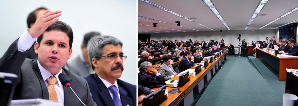 """A primeira reunião da CPI da Petrobras na Câmara dos deputados começou fervendo nesta manhã e faltou pouco para que parlamentares trocassem tapas; clima esquentou porque o presidente do colegiado, deputado Hugo Motta (PMDB-PB), anunciou a criação de quatro sub-relatorias, que, na interpretação dos petistas, visam enfraquecer o PT, que tem a relatoria, na pessoa do deputado Luiz Sergio (PT-RJ); exaltado, o deputado Edmilson Rodrigues (PSOL-PA) levantou de sua cadeira e chamou Hugo Motta de """"moleque"""""""