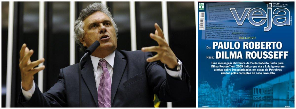 """Líder da oposição no Congresso, deputado Ronaldo Caiado (DEM-GO) pede a convocação da presidente Dilma e do ex-presidente Lula na CPMI da Petrobras;""""Ela disse que não vai deixar pedra sobre pedra e que ela está disposta a aprofundar toda a investigação. Nada mais justo do que ela ir à CPI para esclarecer, em primeiro lugar, a fala do Alberto Yousseff e, agora, esse e-mail do Paulo Roberto Costa"""", disse o parlamentar, sobre capa da revista Veja dessa semana; segundo a revista,Dilma teria sido avisada por Costa sobre uma saída política para os problemas que envolviam a Refinaria Abreu e Lima, em Pernambuco"""