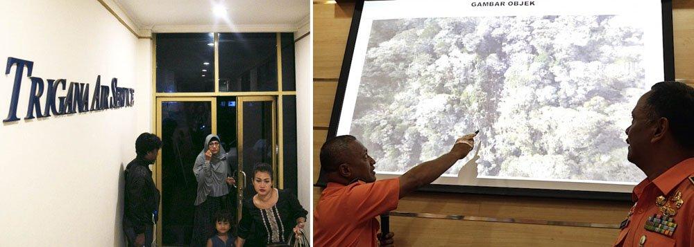 O avião indonésioperdeu o contato com a torre de controle no domingo (16), 34 minutos depois de partir de Jayapura, capital da província de Papua, e dez minutos antes de chegar ao seu destino, Oksibil, no centro da ilha