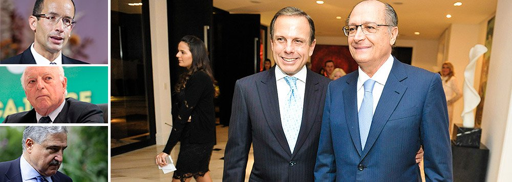 Jornalista João Doria Jr., presidente do Grupo de Líderes Empresariais,tem organizado os recentes encontros do governador de São Paulo, Geraldo Alckmin (PSDB), com grandes empresários; nesta semana, ele recebeu em jantar no Palácio dos Bandeirantes executivos como Marcelo Odebrecht, da empreiteira Odebrecht, Jorge Gerdau, do grupo Gerdau, e Johnny Saad, do grupo Bandeirantes; no domingo, o tucano embarca aos EUA para um seminário no Harvard Club, em NY, sobre investimentos em SP, organizado pelo Lide e pela Câmara de Comércio Brasil-EUA;pré-candidato do PSDB em 2018, Alckmin estreita laços com o empresariado