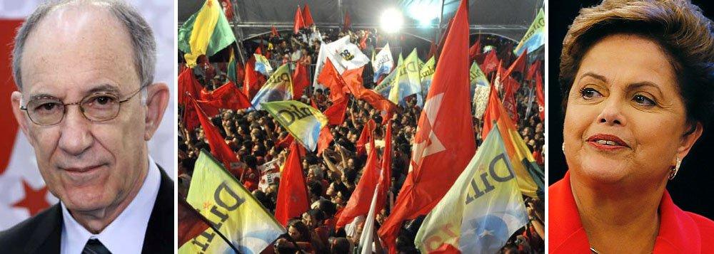 """Presidente nacional do PT, Rui Falcão, divulgou um vídeo para convocar às ruas apoiadores do governo Dilma Rousseff e do partido, na véspera das manifestações organizadas pelos movimentos sindicais, nesta sexta-feira, e pela oposição, no domingo: """"Não aceitem provocações de extremistas, mas também não abaixem a cabeça. Estamos mudando o Brasil e isso nunca foi fácil. Nosso projeto é vitorioso e seguramente continuará melhorando o país"""", declarou"""