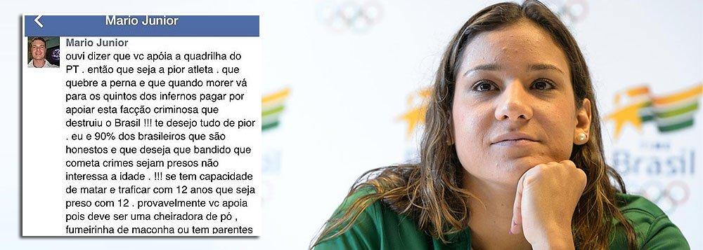 Joanna Maranhão é ameaçada após criticar redução da maioridade
