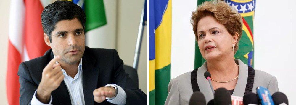 """ACM a Dilma: """"Se fosse ela, eu cortava 10 ministérios de uma canetada só"""""""