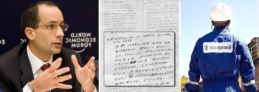 """Daniel Felipe da Silva contou que presenciou quando, por volta das 10h da última segunda-feira (22), outro agente da PF disse """"ter chamado a atenção"""" um manuscrito de Marcelo Odebrecht; ele destacou o fato do bilhete do presidente da Odebrecht """"conter a palavra 'destruir e-mail'""""; o policial ressaltou que """"o bilhete foi fotocopiado e entregue"""" aos """"vários advogados"""" que estavam """"esperando para falar com Marcelo"""", considerando que, em seguida, os mesmos iam falar com o preso"""