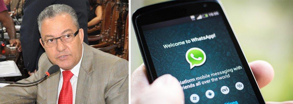 """Proposta é do vereador Isnard Araújo;vítima de um 'viciado em WhatsApp', ele sugeriu em sessão na Câmara Municipal a instalação de um centro de recuperação para pessoas viciadas no aplicativo; """"As pessoas estão presas aos aparelhos. Ontem (9) um homem bateu no fundo do meu carro porque estava trocando mensagens no WhatsApp"""", disse o vereador; Isnard reclamou até dos seus colegas de parlamento; """"Aqui na Câmara inclusive, os vereadores ficam sempre conferindo quem está mandando o que nos grupos"""""""