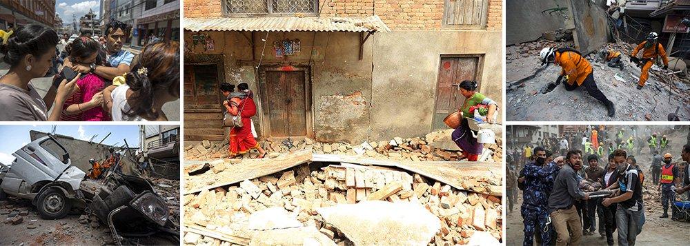Um novo terremoto de magnitude 7,3 atingiu o Nepal nesta terça-feira, matando mais de 20 pessoas no país do Himalaia e em Estados vizinhos, e muitas edificações, já enfraquecidas por um tremor devastador do mês passado, desabaram