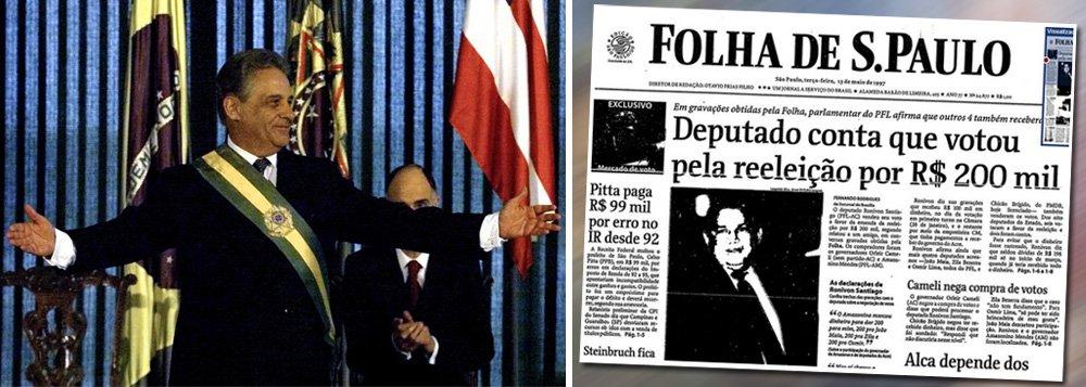 """Ao comentar a reforma política do deputado Eduardo Cunha (PMDB-RJ), que acabou com a reeleição no Brasil, o senador Aécio Neves (PSDB-MG) elogiou a medida e disse que a presidente Dilma Rousseff a """"desmoralizou""""; no entanto, nenhuma reeleição custou tão caro ao País como a do ex-presidente Fernando Henrique Cardoso, em 1998 – e não apenas porque os votos dos parlamentares foram negociados por R$ 200 mil para aprovar a emenda constitucional; antes de se reeleger, FHC manteve o real artificialmente valorizado e queimou praticamente todas as reservas internacionais do País; resultado, a moeda foi desvalorizada em fevereiro de 1999, menos de dois meses após sua posse, e o Brasil se viu forçado, mais uma vez, a se ajoelhar diante do Fundo Monetário Internacional"""