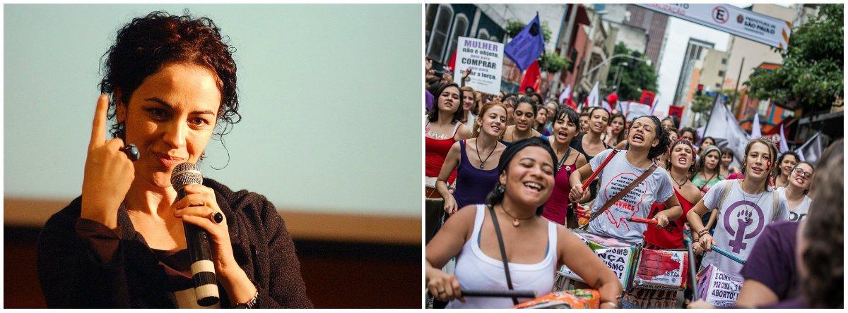 """A #partidA é um movimento e uma proposta de partido por e para mulheres, explica Marcia Tiburi: """"questões concernentes aos direitos humanos, à solidariedade, à defesa das pautas do campo da esquerda entram no nosso feminismo""""; confira entrevista"""