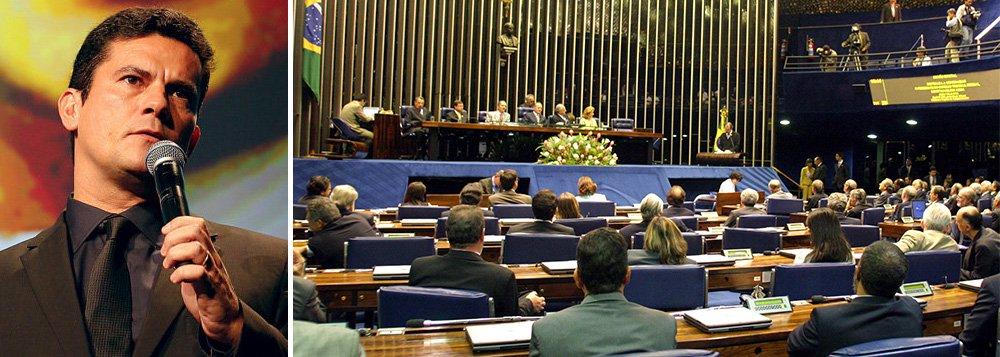Proposta, idealizada por Moro e pela Associação dos Juízes Federais do Brasil (Ajufe), reduz o uso dos recursos de defesa como forma de impedir a prisão de condenados sentenciados por crimes graves – hediondo e de colarinho branco, em primeira instância; texto foi apresentado pelos senadores Roberto Requião (PMDB-PR), Álvaro Dias (PSDB-PR), Ricardo Ferraço (PMDB-ES), Aloysio Nunes (PSDB-SP) e Gleisi Hoffmann (PT-PR)