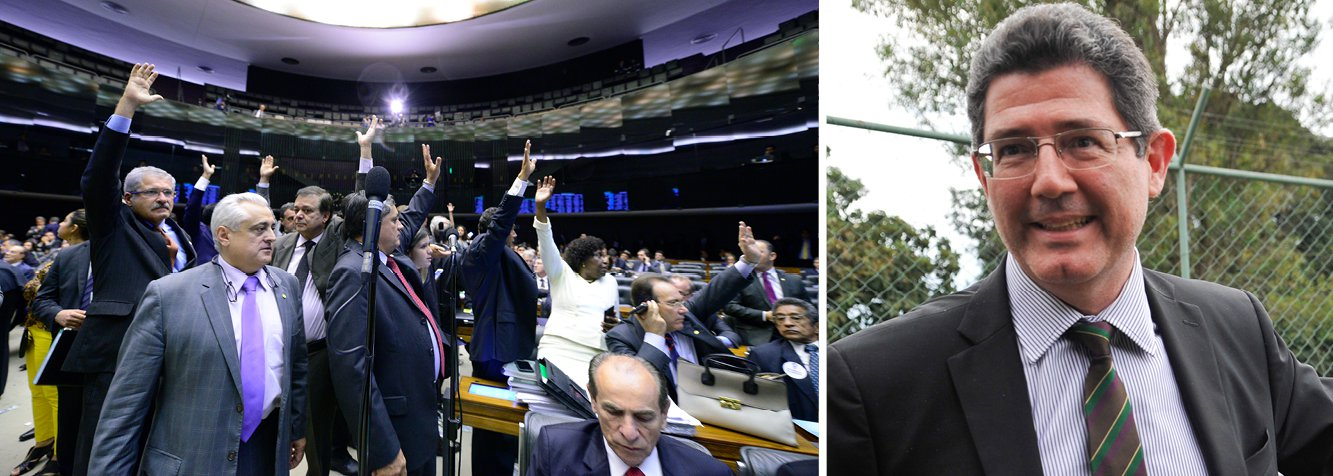 O plenário da Câmara dos Deputados aprovou, na noite desta quarta (6), por 252 votos a 227, a Medida Provisória 665/14, que muda as regras de concessão do seguro-desemprego; a medida integra o ajuste fiscal do governo, liderado pelo ministro da Fazenda, Joaquim Levy; o texto aprovado é o relatório do senador Paulo Rocha (PT-PA), que diminui os períodos exigidos para a concessão do seguro-desemprego na primeira e segunda solicitações em relação ao texto original da MP; a MP também muda regras do abono salarial e do seguro-defeso para o pescador profissional; mais cedo, sindicalistas ocuparam as galerias em protesto à votação e foram retirados; aprovação pode ser considerada vitória do governo Dilma na Câmara