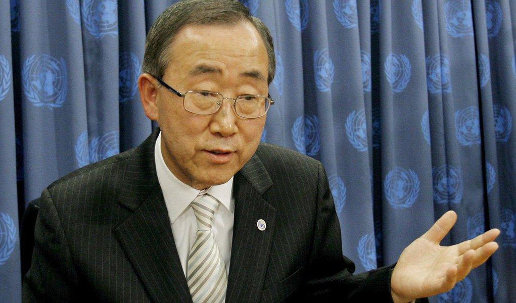 """""""Quatro em cada cinco sírios vivem em situação de pobreza, miséria e privações. O país perdeu quase quatro décadas de desenvolvimento humano"""", disse Ban Ki-moon na abertura da 3ª Conferência Anual de Doadores para a Síria, que ocorre no Kuwait"""