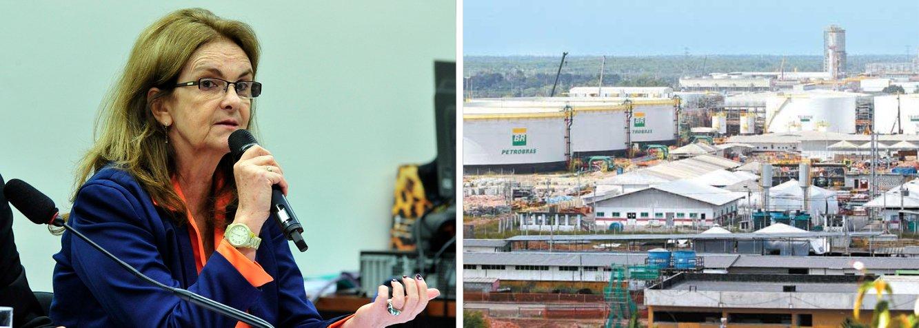 Ex-presidente da Petrobras Maria das Graças Foster disse que a empresa cometeu um erro ao divulgar o valor inicial da refinaria Abreu e Lima (Rnest) como sendo de US$ 2,5 bilhões; a refinaria, construída no Complexo de Suape, no Grande Recife, acabou custando US$ 18 bilhões; essa é a quinta vez que a ex-dirigente vai ao Congresso explicar denúncias contra a estatal