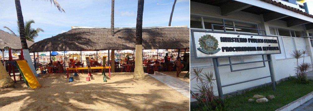 Ministério Público Federal em Sergipe ajuizou 12 ações civis públicas com o objetivo de regularizar a ocupação da faixa de praia em Aracaju; são réus os proprietários de 49 bares localizados na Rodovia José Sarney e 16 bares da Orlinha da Atalaia, o Município de Aracaju, a Emurb, a Adema e a União; segundo o MPF, o funcionamento desses bares e restaurantes na Rodovia José Sarney e na Orlinha da Atalaia é irregular; no processo, o ógão pedea demolição dos 65 bares e restaurantes que novas ocupações sejam proibidas; MP alega que área é de preservação ambiental