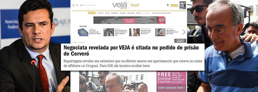 """""""Ele está indignado. Permanece preso há quase cinco meses sem fundamentação legal e sem que nenhuma das acusações contra ele tenha sido fundamentada com provas. Tudo se baseia em ilações formadas a partir de duas notícias publicadas pela VEJA. Numa delas, se diz que ele era dono de uma empresa offshore no Uruguai. Na outra, que usou seu um apartamento no Rio de Janeiro para fazer lavagem de dinheiro. O problema é que nada se provou"""", diz o advogado Edson Ribeiro, que defende Nestor Cerveró, ex-diretor da Petrobras, em entrevista a Paulo Moreira Leite, diretor do 247 em Brasília; segundo o advogado, o juiz Sergio Moro o mantém preso para tentar forçar uma delação que não virá; quando Cerveró foi preso, Veja se vangloriou de ter sido citada na decisão"""