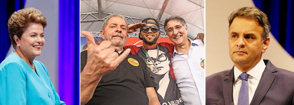 """O ex-presidente Luiz Inácio Lula da Silva, qualificou o candidato Aécio Neves (PSDB) como """"grosseiro"""" e o acusou de possuir um """"comportamento de filhinho de papai""""; """"Nunca vi um cidadão faltar com respeito com uma presidente como faz nosso opositor. Eu não tinha coragem de ser grosseiro contra o Collor. Isso é comportamento de um filhinho de papai. Não sei se ele teria coragem de ser tão grosseiro se o adversário dele fosse homem. Não é só porque Dilma é mulher, mas porque ela é presidente desse País"""", disparou durante um ato de campanha em Minas Gerais"""